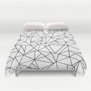 Abstract Outline Black on White Duvet Cover by Project M | Society6