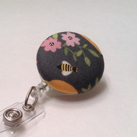 Badge Reel, Retractable Badge Holder, Nurse Key Card Holder, Swivel Badge Clip, ID Holder, Name Badge Holder, Retractable Lanyard, Bees