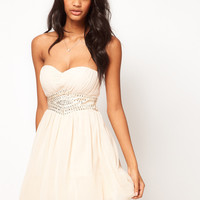 Little Mistress Embellished Waist Sweetheart Bandeau Skater