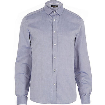 River Island MensBlue long sleeve shirt