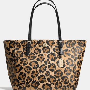 COACH TURNLOCK TOTE IN WILD BEAST PRINT LEATHER | Dillards