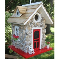 SheilaShrubs.com: Fieldstone Guest Cottage - Stone 6004S by Home Bazaar: Birdhouses