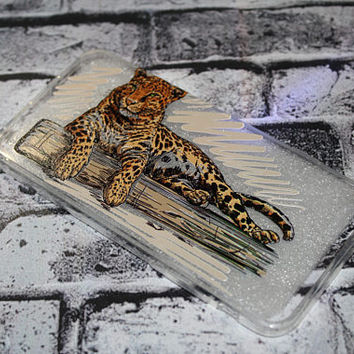 High Quality Personalized Printed Silicone Clear Tiger Phone Case