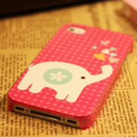 iPhone 4 case covers iPhone 4s case iPhone case iPhone Hard case for Apple iPhone 4 and 4s - cute elephant