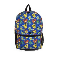 Nintendo Pokemon Pikachu&Charmander, Evee Boy's Allover Print 16 School Backpack