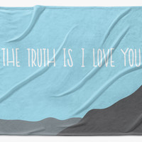 xfiles: the truth is - printed throw blanket