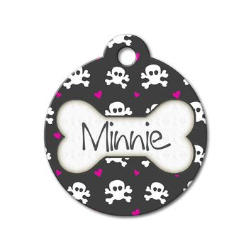 Skulls & Hearts - Pattern Pet Tags