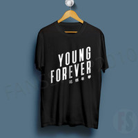 Young Forever BTS G dragon KPOP BANGTAN BOYS YOUNG FOREVER Black T Shirt