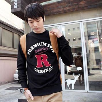 Stylish Cotton Tops Thicken Men Pullover Hoodies Underwear [6526947267]
