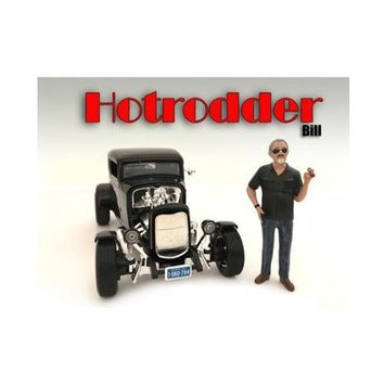 """""""Hotrodders"""" Bill Figure For 1:24 Scale Models by American Diorama"""