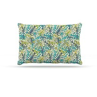 "Kess InHouse Julia Grifol ""Tropical Leaves"" Fleece Dog Bed"