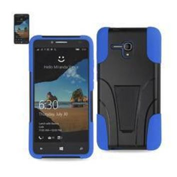 REIKO ALCATEL ONE TOUCH FIERCE XL HYBRID HEAVY DUTY CASE WITH KICKSTAND IN NAVY BLACK