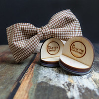#bowtie #houndstooth #dogtooth #men #women #woolbowtie #handmade #brown #grooms #gift #weddingmen