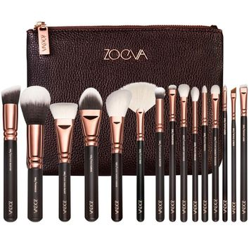 Professional Face Eye Rose Golden 15pcs Brushes