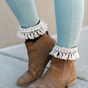 Fringe Knitted Boot Cuffs (More Colors)