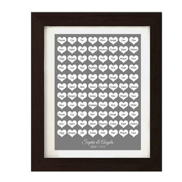 Guestbook wedding hearts - Digital file