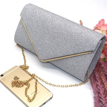 Woman's Evening Bag Diamond Rhinestone Women Handbags Crystal Day Clutch Wallet Wedding Purse Party Banquet Black Gold Silver