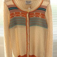 Cardigan with Anchor Button Brown from topsales