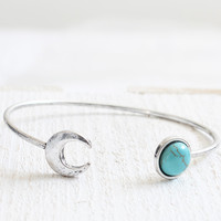Moon Bangle & Ring Set