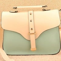 OASAP - Elegant Trunk Flap Handbag with Detachable Strap - Street Fashion Store
