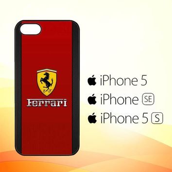 Ferrari Logo Red Carbon X4361  iPhone 5|5S|SE Case