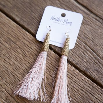 Tiffany Tassel Earring, Blush