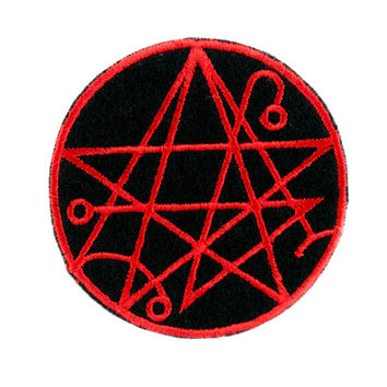 Gate of the Necronomicon Alchemy Symbol Patch Iron on Applique Occult Clothing