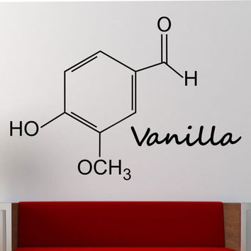 Vanilla Molecule Wall Decal Vinyl Sticker Art Decor Bedroom Design Mural education science educational geek nerd teach creative art