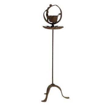 Cast Iron Dancing Lady Ashtray Stand Adjustable