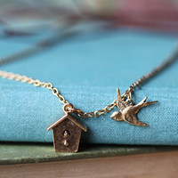 fly away home indie necklace in brass