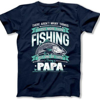 Fishing Gifts For Grandpa Shirt Outdoor T Shirt Fisherman Gifts Dad Shirt Outdoor Clothes Papa Gifts Outdoorsman Fathers Day Present TEP-323
