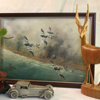 Spitfire  Wing D-day Framed Print Aviation History WWII Military Aircraft Fighter Warbirds Gift Fathers Day, normandy, spitfire images