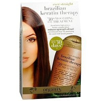 OGX 30 Day Smoothing Treatment, Ever Straight Brazilian Keratin Therapy, 3.3oz
