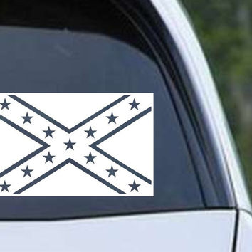 Rebel Confederate Flag Vinyl Die Cut Decal Sticker