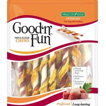Healthy Hide Good N Fun Triple Flavor Twists 22 Pack