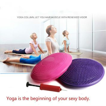 Inflatable Massage Yoga Ball Fitness Cushion Mat Universal Yoga Wobble Stability Balance Massage Cushion Mat Yoga Fitness Balls