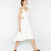 DRESS WITH STRETCH TOP
