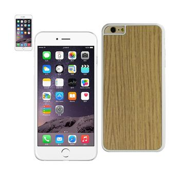 New Wood Grain Slim Snap On Case In White For iPhone 6 Plus By Reiko