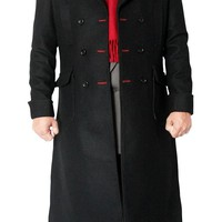 Outfitmakers Sherlock Holmes Coat - Black Wool Fabric