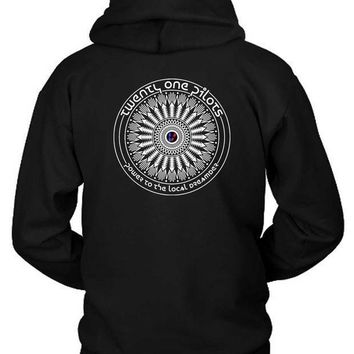 Twenty One Pilots Power To The Local Dreamer Hoodie Two Sided
