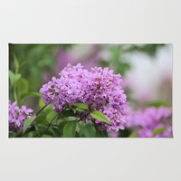 Lilac Bouquets Rug by Theresa Campbell D'August Art