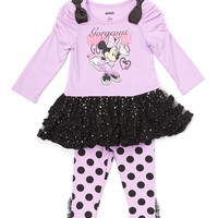 Purple Minnie Mouse Dress & Leggings - Infant, Toddler & Girls | zulily