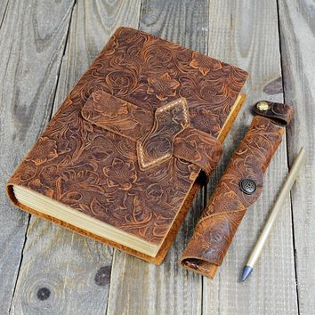 Leather Notebook Kraft Paper Diary