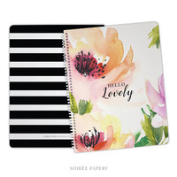 Hello Lovely Spiral Notebook | Bridesmaid Gift, Gift for Her, Office Accessories | Melody