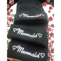 mermaid beanie by Elizabethaudreyy on Etsy