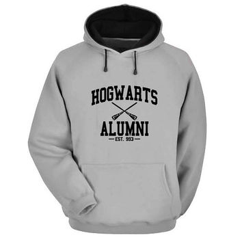 hogwarts alumni Hoodie Sweatshirt Sweater Shirt Gray and beauty variant color for Unisex size