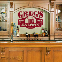 Personalized Saloon - Vinyl Wall Art - FREE Shipping - Bar, Man cave, Good times