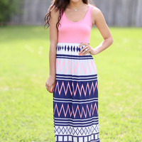 Teach Me the Ropes Maxi Dress - Coral