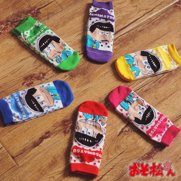 Cartoon SIX SAME FACES Konya wa Saikou Osomatsu San ED Character Short Socks Cosplay