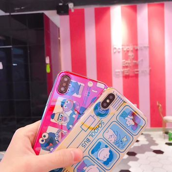For iPhone 6 6S 7 8 X cartoon character Snoopy spoof drop high quality mobile phone back cover phone case